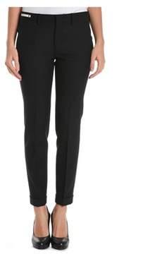 Berwich Women's Black Polyester Pants.