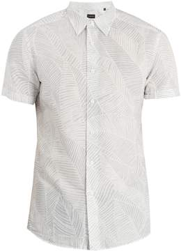 Ermenegildo Zegna Leaf-print linen-blend shirt