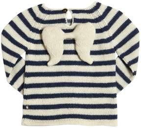 Oeuf Angel Striped Baby Alpaca Tricot Sweater