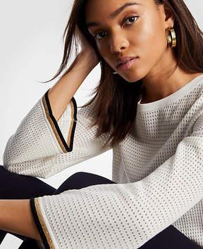 Ann Taylor Shimmer Mesh Stitch Sweater