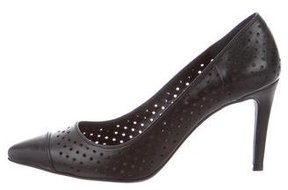 Anine Bing Perforated Pointed-Toe Pumps
