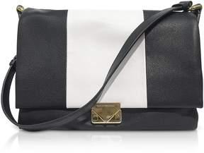 Emporio Armani Color Block Leather Shoulder Bag