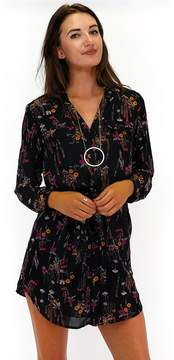 Everly Falling For Florals Shirt Dress