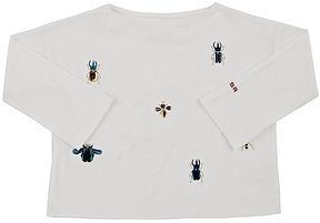 Sonia Rykiel Bug-Embellished Cotton Long-Sleeve T-Shirt