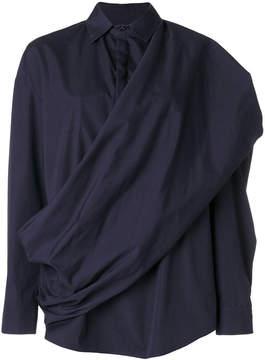 Chalayan twisted sash shirt