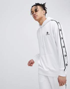 Converse Pullover Hoodie With Taped Side Stripes In White 10007588-A06