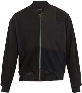 Longjourney Lining contrast-panel cotton bomber jacket