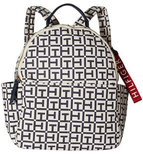 Tommy Hilfiger Classic Tommy Tote TH Canvas Backpack Tote Handbags