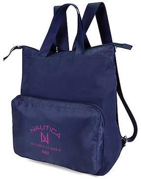 Nautica New Tack Logo Pocket Backpack - Indigo
