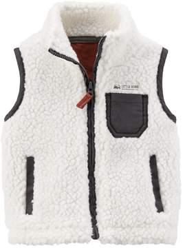 Carter's Baby Boy Sherpa Zip Front Vest