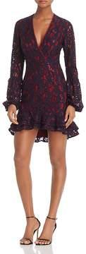 WAYF Balloon Sleeve Lace Dress