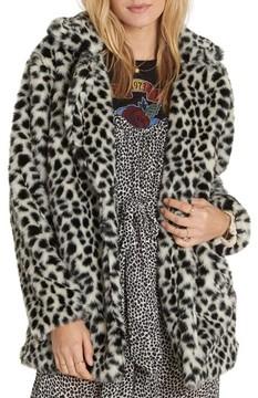 Billabong Women's Wild One Faux Fur Coat