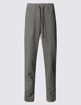 Marks and Spencer Cotton Rich Striped Joggers