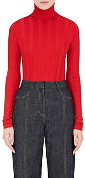 Derek Lam Women's Ribbed Cashmere-Silk Turtleneck Sweater