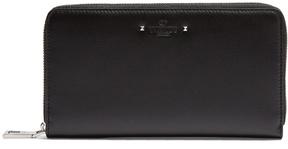 Valentino Logo-debossed zip-around leather wallet