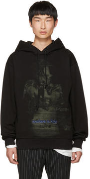 Juun.J Black Somewhere To Hide Hoodie