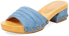 Sigerson Morrison Women's Abel 2 Denim Slip-On Sandal