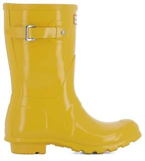 Hunter Women's Yellow Rubber Ankle Boots.