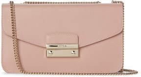 Furla Moonstone Julia Pouchette Leather Chain Bag
