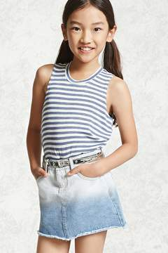 Forever 21 Girls Ombre Denim Skirt (Kids)