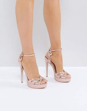 Miss KG Fabienne Jewelled Butterfly Platform Heeled Sandals