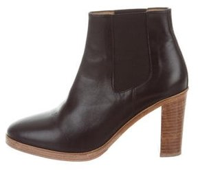 A.P.C. Leather Round-Toe Ankle Boots