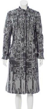 Bottega Veneta Brocade Long Coat