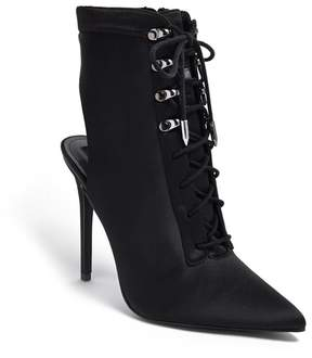 Forever 21 Pointed Lace-Up Cutout Stiletto Boots