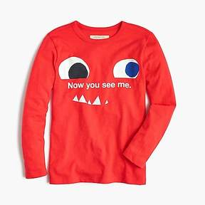 J.Crew Boys' long-sleeve glow-in-the-dark tricky monster T-shirt