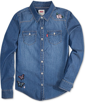 Levi's Limited Collection Embellished Western Denim Shirt, Big Girls (7-16)