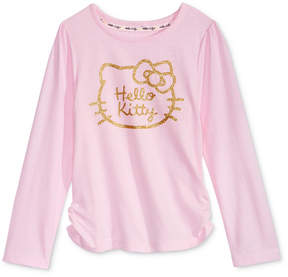 Hello Kitty Glitter Graphic-Print Shirt, Little Girls (4-6X)