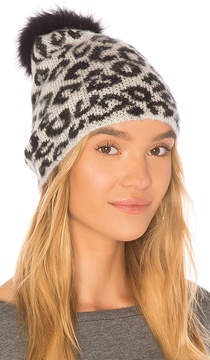 Jocelyn Knit Hat With Fox Pom