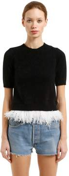 N°21 Angora Blend Sweater W/ Feathers