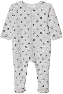 Absorba Grey Star Print Jersey Babygrow