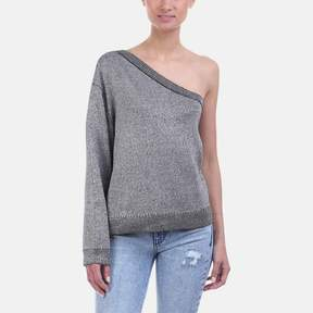 RtA Goldie One-Shoulder Cotton Sweater
