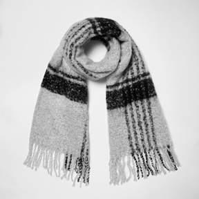 River Island Womens Grey check scarf