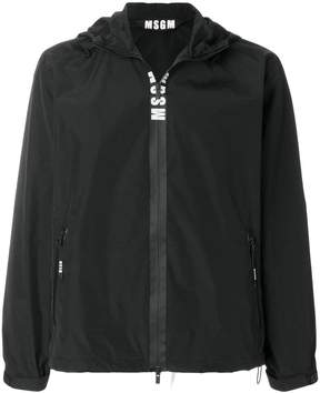 MSGM logo hooded windbreaker