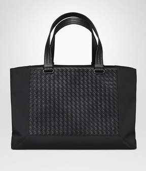 Bottega Veneta Nero Technical Canvas Tote