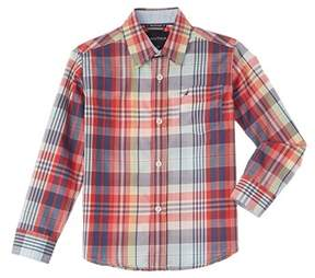 Nautica Boys' Long Sleeve Woven Shirt.