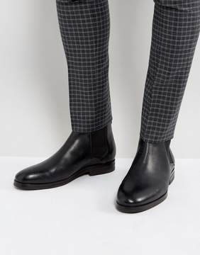 H By Hudson Tonti Leather Chelsea Boots In Black