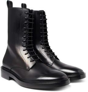 Balenciaga Leather Combat Boots