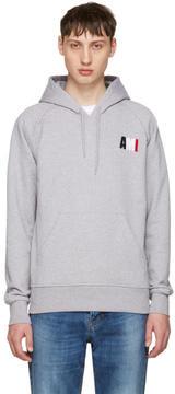 Ami Alexandre Mattiussi Grey Logo Hoodie