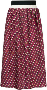 CITYSHOP pleated printed skirt