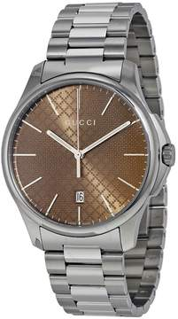 Gucci G-Timeless Brown Dial Stainless Steel Men's Watch