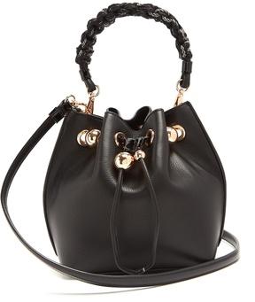 SOPHIA WEBSTER Romi mini leather drawstring bucket bag