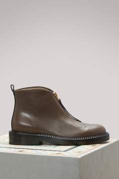 Marni Leather flat ankle boots