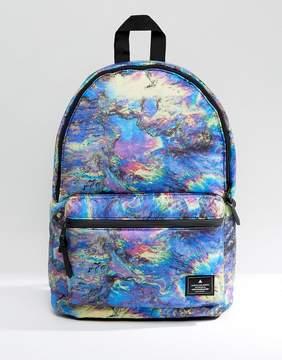 Asos Backpack In Printed Oil Slick Design