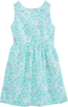 Vineyard Vines Girls Sealife Gingham Dress