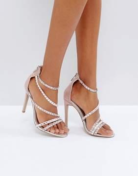 Carvela Grass Embellished Gem Strappy Heeled Sandals