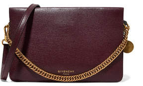 Givenchy Cross3 Textured-leather And Suede Shoulder Bag - Burgundy